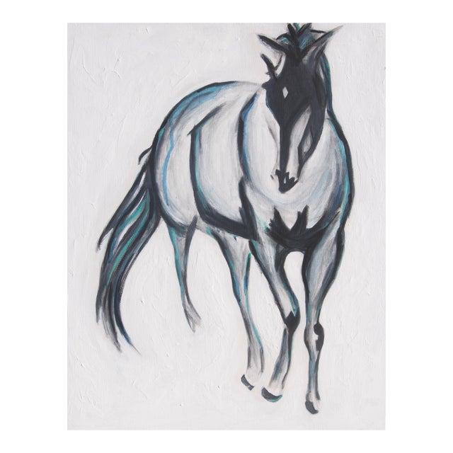 """Pete"" Horse Original Mixed Media Painting - Image 1 of 4"