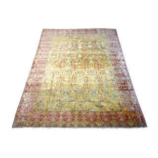 """Large Old Hand Made Wool Turkish Rug-8'8"""" X 12ft For Sale"""