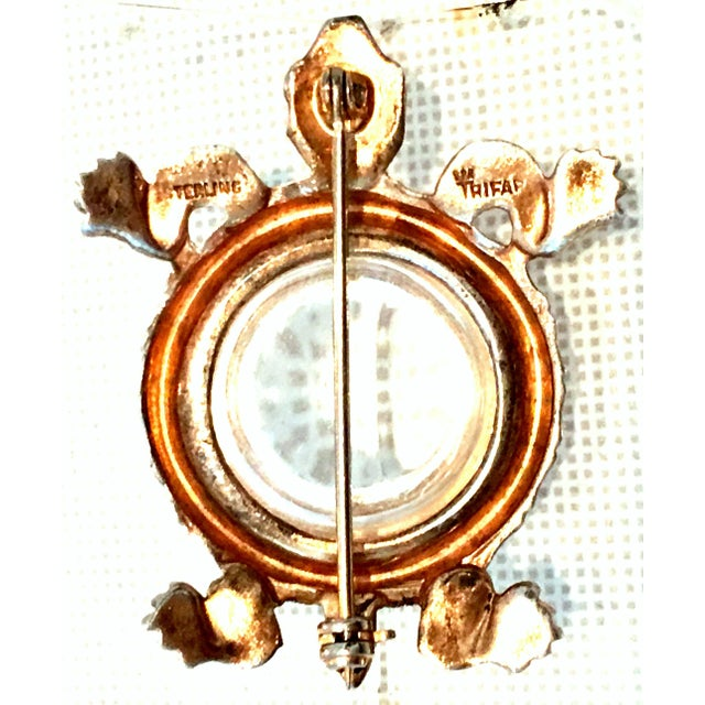 1940s Trifari Sterling Vermeil, Lucite & Crystal Jelly Belly Turtle Brooch For Sale - Image 11 of 13