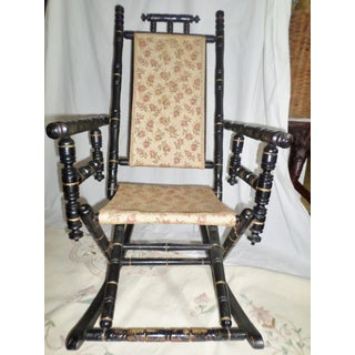 Mid 19th Century Antique Victorian Ebonized Wood Rocking Chair Preview