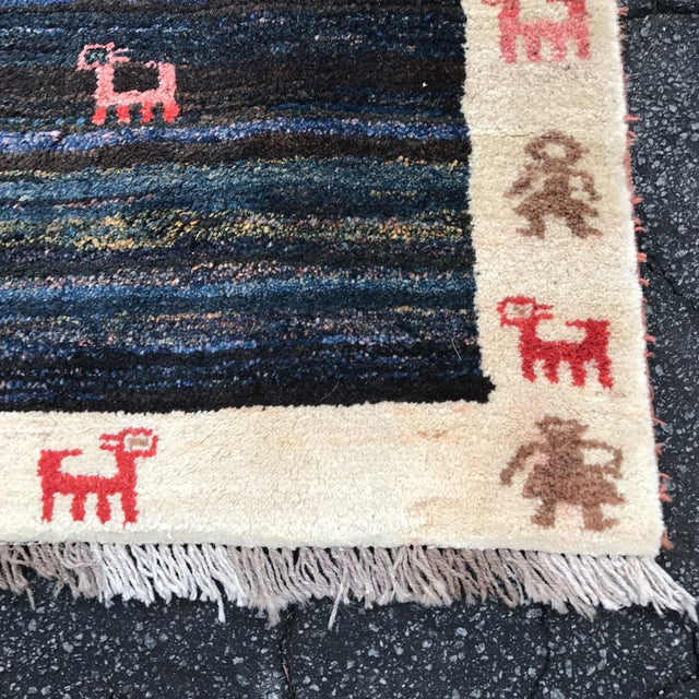 """Vintage Persian Gabe Area Rug- 6'5"""" x 4'7"""" - Image 5 of 11"""