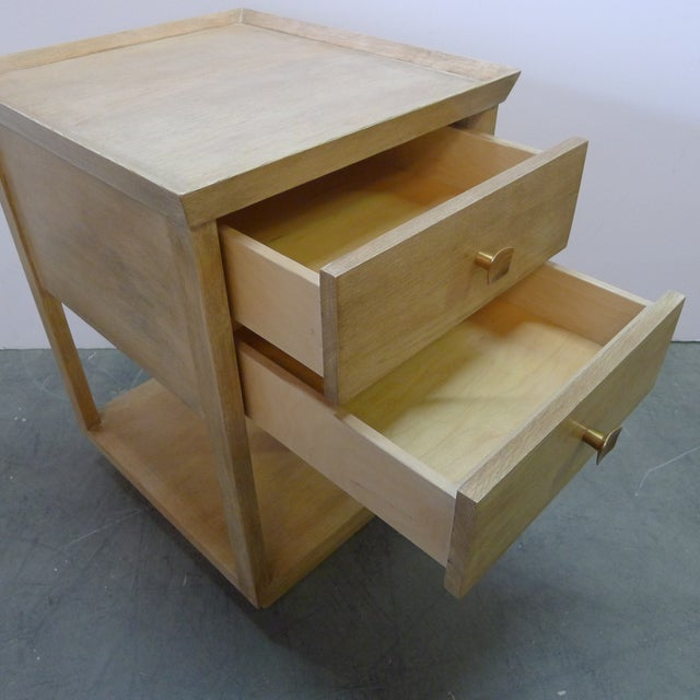 Wood Paul Marra Two-Tier Nightstand in Rift Sawn Oak Natural Finish For Sale - Image 7 of 10