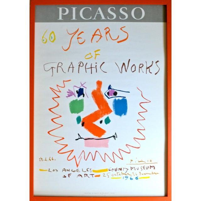 Orange 1966 Pablo Picasso Exhibition Poster - Mourlot Lithograph For Sale - Image 8 of 8