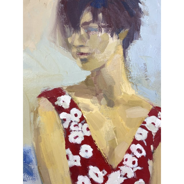 Canvas Original Figurative Oil Painting For Sale - Image 7 of 12