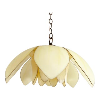 1960s Lotus Pendant Light For Sale