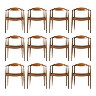 Set of 12 Hans Wegner JH-503 Chairs For Sale