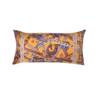 """""""Le Songe De La Licorne"""" Hermès Silk Scarf Pillow For Sale"""