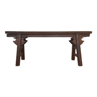 19th Century Antique Chinese Provincial Wooden Bench For Sale