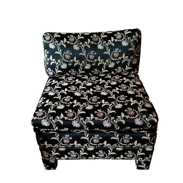 Baughman Style Asian Inspired Slipper Chairs- A Pair - Image 2 of 5