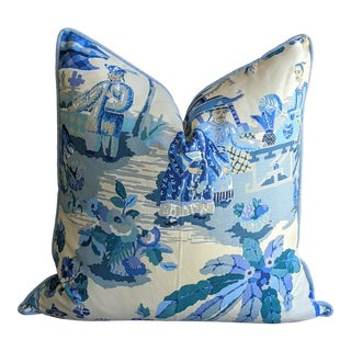 Kravet Xian by Brunschwig & Fils Chinoiserie Pillow Cover For Sale