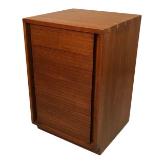"1960s Mid-Century ""Henredon"" Teak Small Drawer Cabinet on Wheels For Sale"