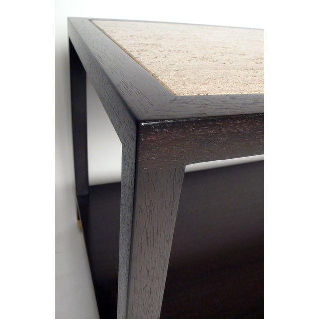 Tan Harvey Probber Travertine Console Table For Sale - Image 8 of 10