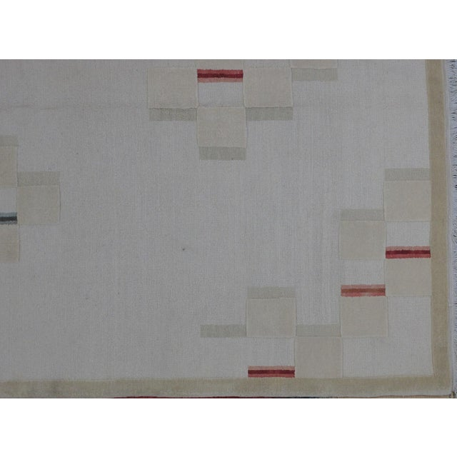 Soumak Design Hand Woven Wool Rug - 8' X 10' - Image 3 of 5