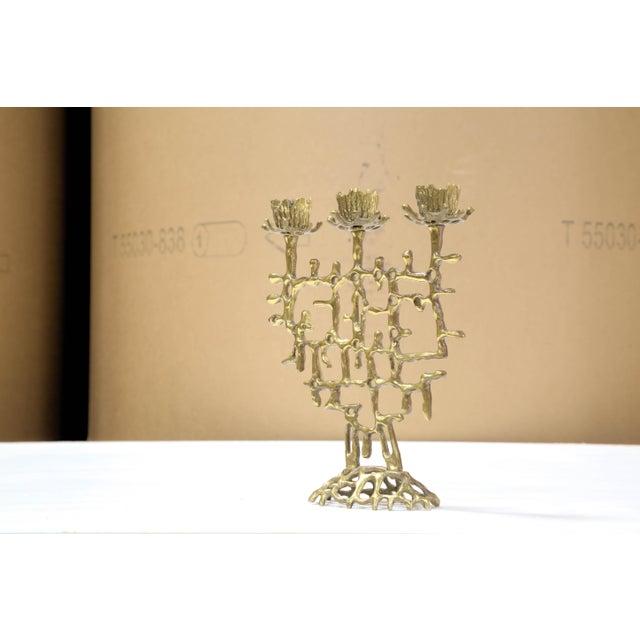 Brutalist Judaica Candleholder - Image 3 of 5