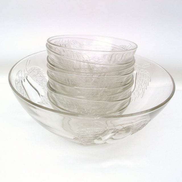 1930's Indiana Glass Pear Dessert Berry Bowls Set - Image 3 of 8