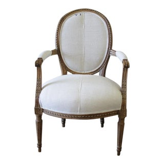 19th Century Louis XVI Style French Ribbon Carved Chair