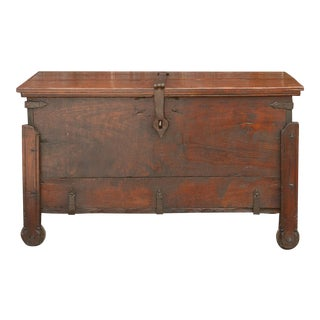 Goan Indo Portuguese Trunk on Wheels; Circa 1850 For Sale