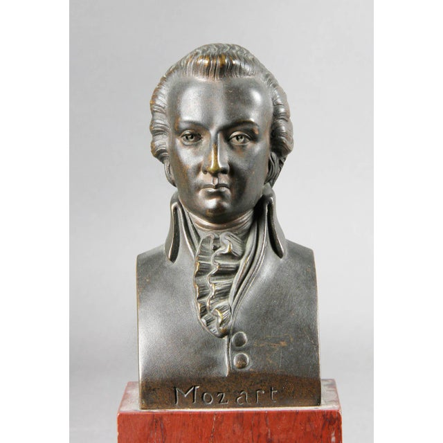 Pink Interesting Collection of Ten Busts of Composers For Sale - Image 8 of 11