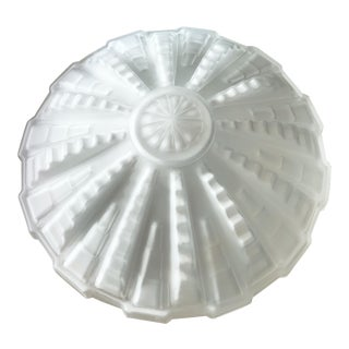 1940s French Art Deco Milk Glass Sculptural Shade For Sale