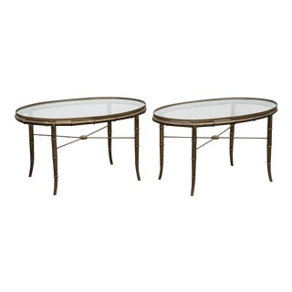 1970s Mid-Century Modern Mastercraft Bamboo Coffee Tables - a Pair