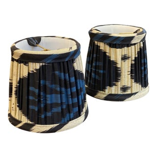 Custom Abstract Lamp Shades - a Pair For Sale
