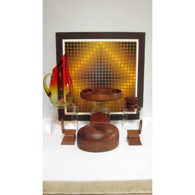 Mid 20th Century Vasarely Op Art Lithograph For Sale - Image 5 of 6
