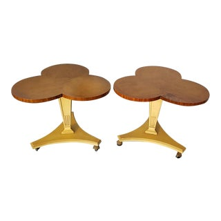 Vintage Mid Century Modern Clover Leaf End Tables by Lane Furniture Co.-a Pair For Sale