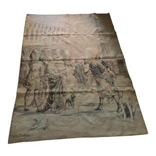 Vintage Market Scene Tapestry For Sale
