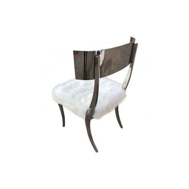 Modern Bernhardt Gustav Metal Chair For Sale - Image 3 of 6