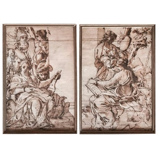 Pair of Old Master Drawings For Sale