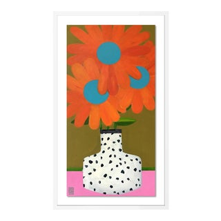 Changing Colors by Jelly Chen in White Framed Paper, Small Art Print For Sale