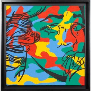 """Corinna Heumann, """"Lichtenstein Meets Warhol (Crying Camouflage)"""", Pop Art Painting"""