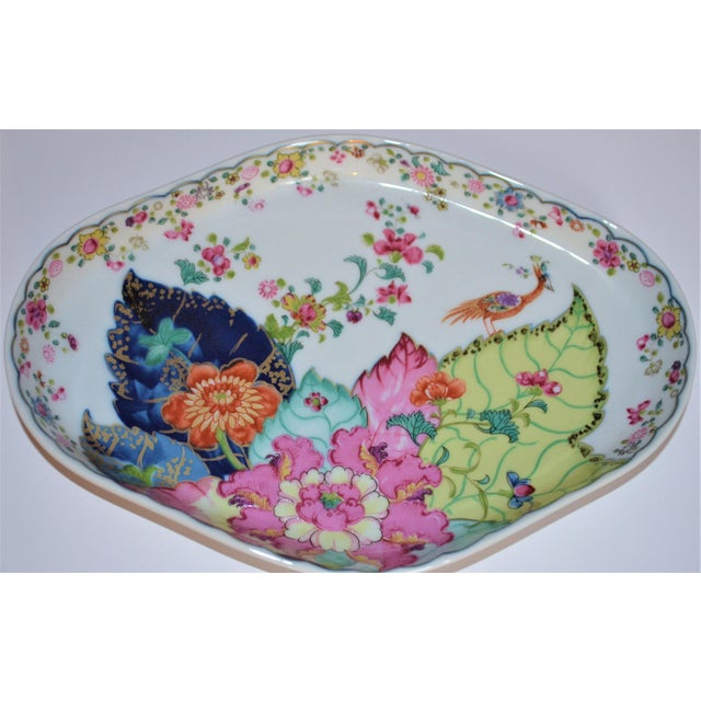 Vintage Mottahedeh Tobacco Leaf Porcelain Oval Tray For Sale In Houston - Image 6 of 8