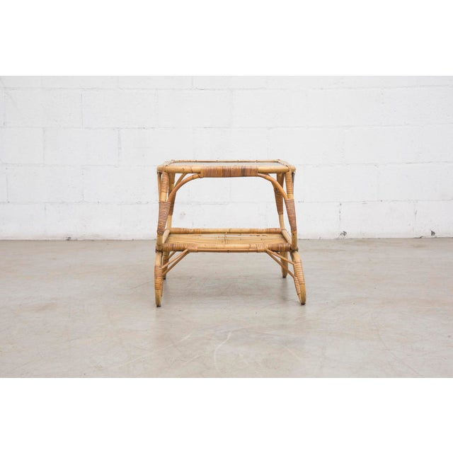 Bamboo Side Table With Magazine Rack - Image 3 of 7