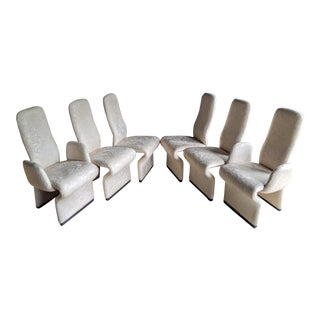 1980s Contemporary Paul Boulva for Rougier Dining Chairs, Set of 6 For Sale