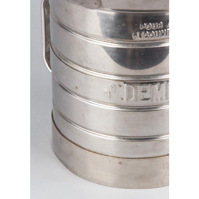 Metal 1950s French Silver Metal Measuring Milk Pitcher For Sale - Image 7 of 13