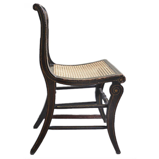 Antique Hand Painted Caned Chair - Image 5 of 5