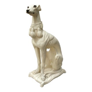 1970s Mid-Century Italian Pottery Greyhound For Sale