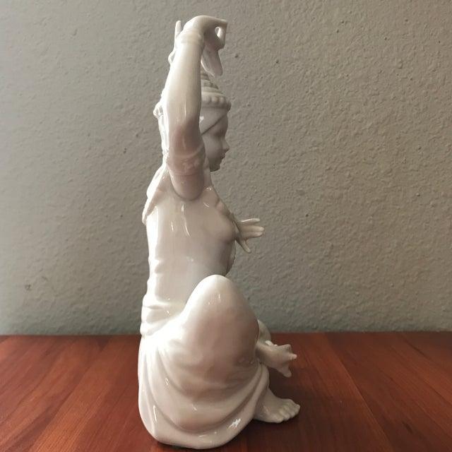 Vintage Blanc De Chin Thai Siam Porcelain Figurine For Sale - Image 4 of 7