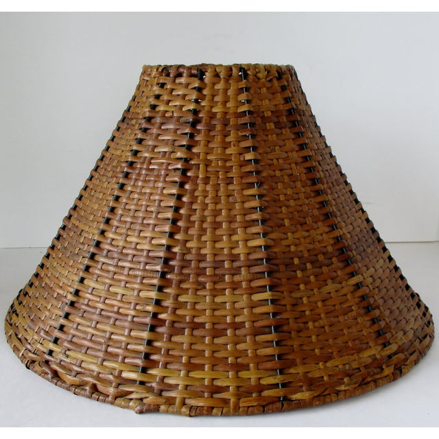 Brown Wicker Uno Lamp Shade For Sale - Image 8 of 8