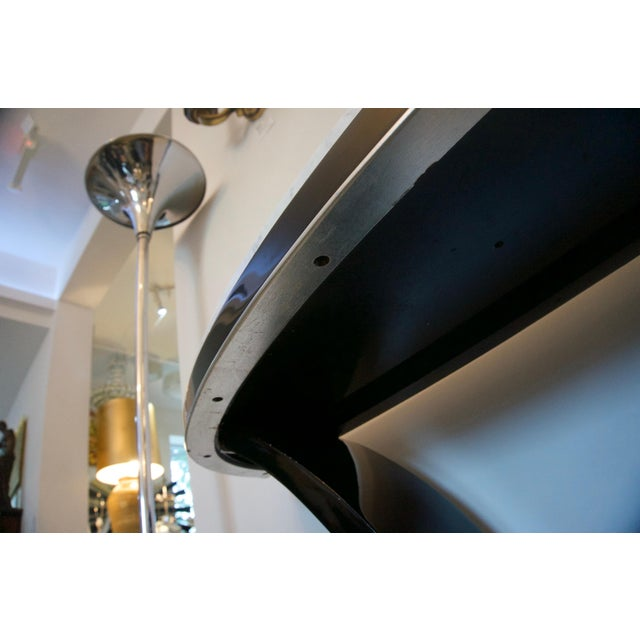 Art Deco Black and Silver Console and Mirror From South Beach - 2 Pc. Set For Sale - Image 3 of 12