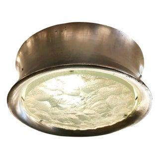 Fontana Arte Chiseled Glass Flush Mount Model 2464 For Sale
