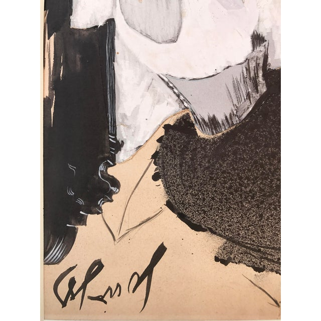 Gouache of French Art Nouveau Dancer by Louis Legrand For Sale In New York - Image 6 of 7