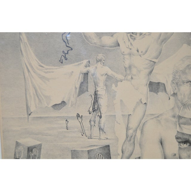 John B. Lear Surreal Male Lithograph C.1940s For Sale - Image 5 of 8