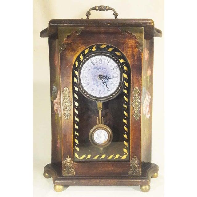 Vintage Mantel Pendulum Clock - Image 7 of 7