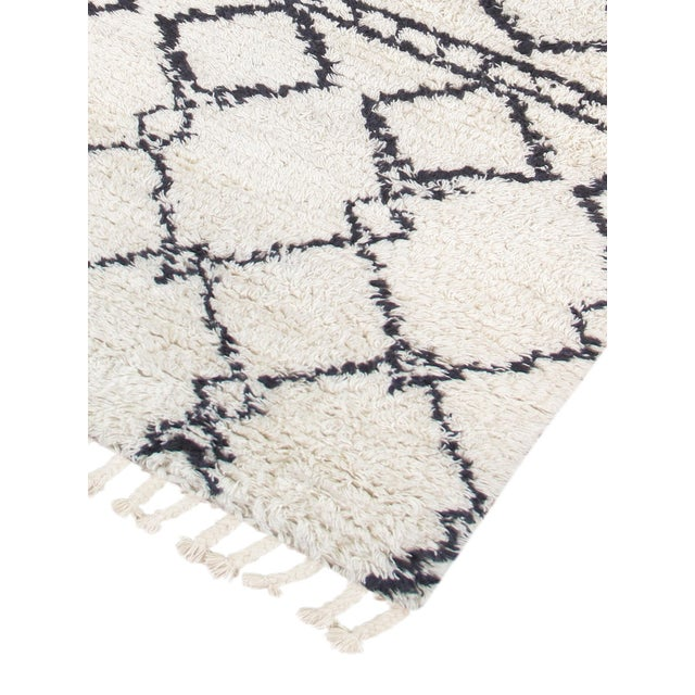 Moroccan Shag Style Wool Area Rug - 5' X 8' - Image 3 of 4