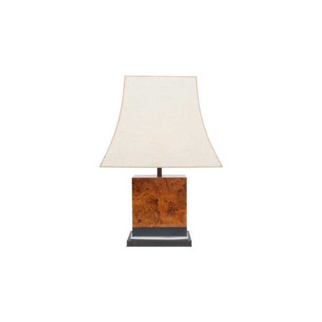 Pair of Burl Lamps by Jean Claude Mahey For Sale - Image 5 of 9