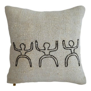 """African Style Handmade Rug Hemp Pillow Cover Throw With Free Insert 16"""" X 16"""" For Sale"""