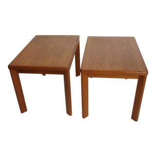 Danish Modern Side Tables - a Pair For Sale