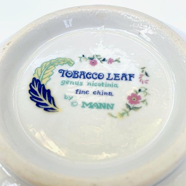 Vintage Tobacco Leaf Fine China Medium Salads Serving Bowl For Sale - Image 12 of 13